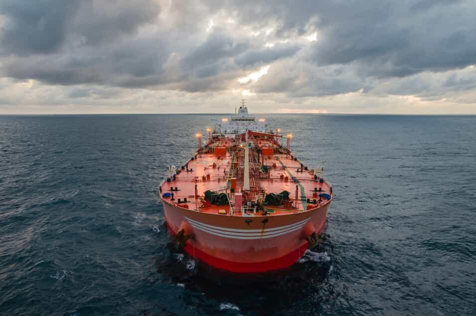 Oil Tanker on the Ocean